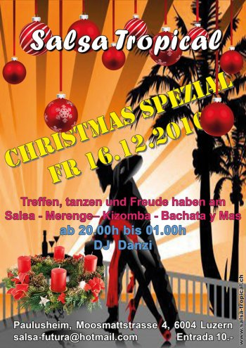 Salsa Tropical SalsaFutura Flyer 2016 Christmas Special